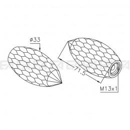 Pigna cristallo VDC02 disegno tecnico