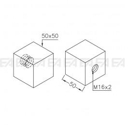 Cubo in vetro VDS05 diegno tecnico
