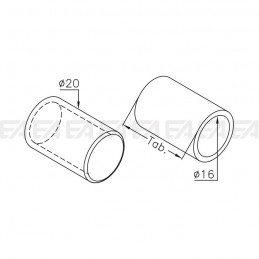 Cilindro in vetro VDS09 disegno tecnico