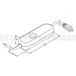 Interruttore elettronico INT07 disegno tecnico