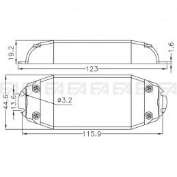 Driver LED DRD0450010.240 disegno tecnico