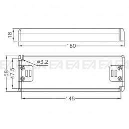 Alimentatore LED ALN024050.240 disegno tecnico