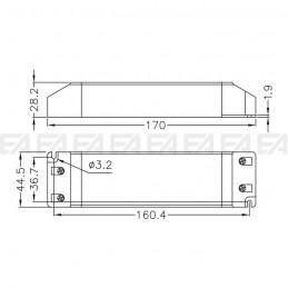 Alimentatore LED ALN024075.243 disegno tecnico