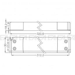 Alimentatore LED ALN024100.242 disegno tecnico