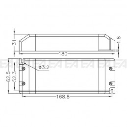 Alimentatore LED ALN024100.243 disegno tecnico