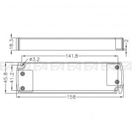 Alimentatore LED ALN024030.244 disegno tecnico