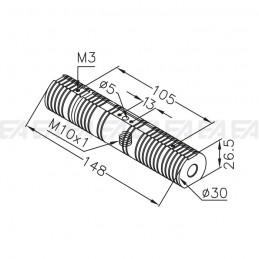 Dissipatore in alluminio SUP099.01 disegno tecnico