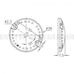 Cover di protezione LL036.000 disegno tecnico