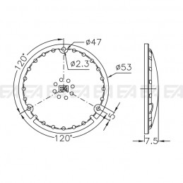 Protection cover LL053.000 technical drawing