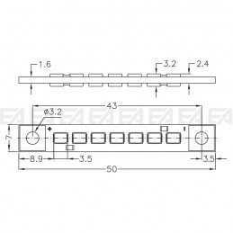 CL218 PCB LED board technical drawing