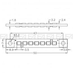 Scheda LED CL218 disegno tecnico