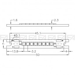 CL107 cc PCB LED board technical drawing