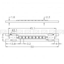 Scheda CL107 cc disegno tecnico
