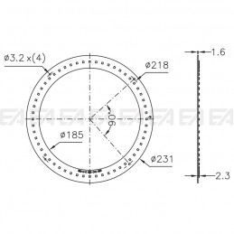 PCB LED board CL039 technical drawing