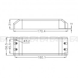 LED power supply ALN024075.244 technical drawing