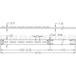 CL070 PCB LED board technical drawing