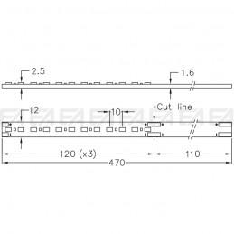Scheda LED CL070 disegno tecnico