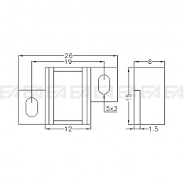 Fixing holder SUP095.00 technical drawing