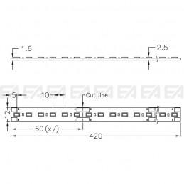 Scheda LED CL095 cv disegno tecnico