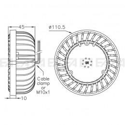220~240Vac PCB LED module AR1 ac technical drawing