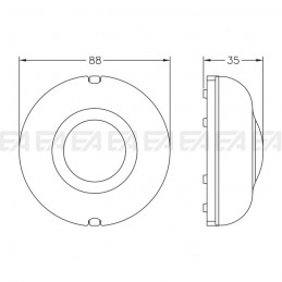 Electronic dimmer DMPL technical drawing