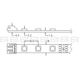LED board STR0305050F technical drawing