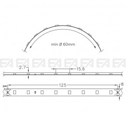 LED strip STW064 technical drawing