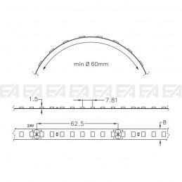 Strip LED STF128 disegno tecnico