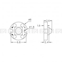 CL008 PCB LED board technical drawing