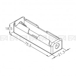 Plastic holder BAH.001.00 technical drawing