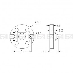 CL010 PCB LED board technical drawing