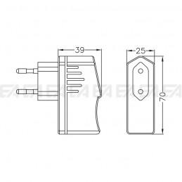 Alimentatore LED ALS005015.260 disegno tecnico
