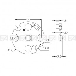 CL011 PCB LED board technical drawing