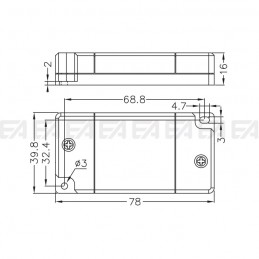DALI dimmer CTT027.00 technical drawing
