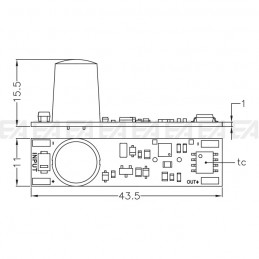 Control electronics MDT02BP technical drawing
