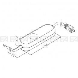 Interruttore elettronico INT06 disegno tecnico