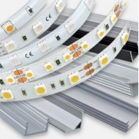 LED strips and aluminium profiles