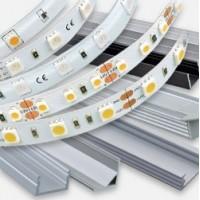 Strip LED a tensione costante, 12Vdc o 24Vdc, rgb, profili in alluminio e accessori