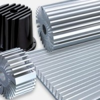 Cooling systems, aluminium heatsink, support and cooling fan