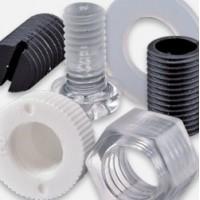 Plastic screws, nipples, nuts and lock washers
