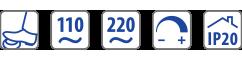 110Vac - 220Vac - IP20 - dimming