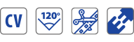 tensione costante - divisibile - linkabile - apertura 120°