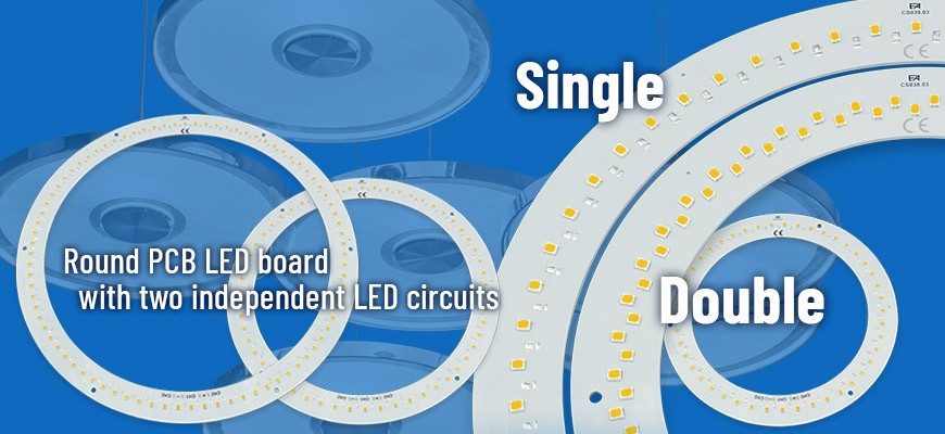 Circular LED boards