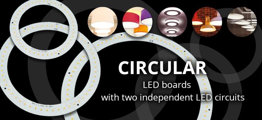 Circular LED boards