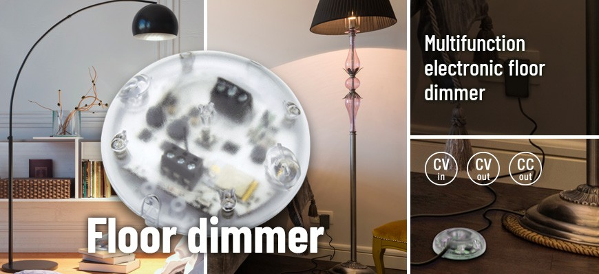 Multifunction electronic floor dimmer
